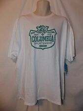 mens columbia sportswear  t-shirt XL nwt  outdoor stamp white