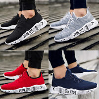 Men's Sneakers Knit Walking Breathable Lightweight Footwear Sports Gym Shoes