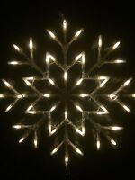 White SnowFlake Window Light 35cm X 35cm Christmas Lights Static Or Flash Option