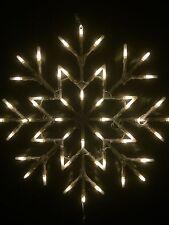 Fenêtre de Noël Flocons Neige blanche lumière 35cm x 35cm utilisation intérieure lumières de Noël