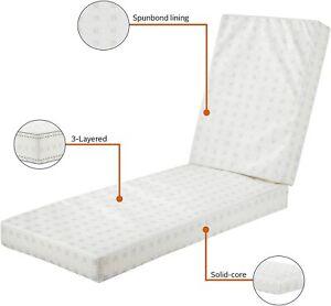 Classic Accessories  Chaise Lounge Cushion Foam XL 80x26x3 Plush Firm NIP