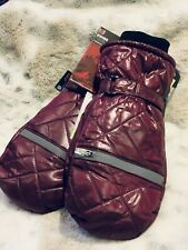 Women's Waterproof 3M Thinsulate Maroon Quilted Ski Mittens Size M/L