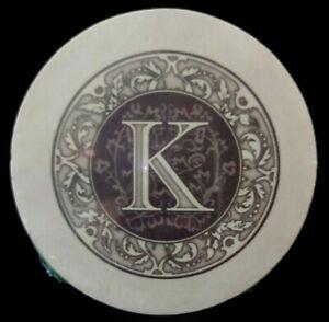 """THIRSTYSTONE MONOGRAM LETTER K INITIAL TRIVET 6"""" NEW"""