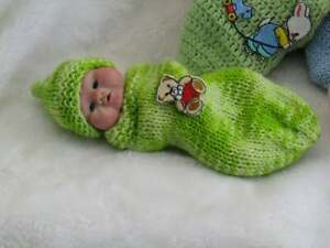 Polymer Clay hand sculpted one of a kind mini baby. With COA. Meet Mason