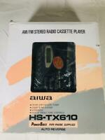 Aiwa HS-TX610 AM/FM Stereo Radio Cassette Player New Free Shipping