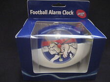 AFL WESTERN BULLDOGS Clock Football shaped alarm clock  -NEW!