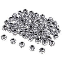 60pcs Classic Black White Soccer Ball Beads for Sewing Clothes Embellishment