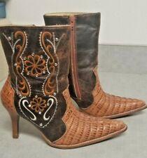 Women's Zipper Up Ostrich Western Boots Puro Cuero  Mex.24 / USA 27 Actual 7?