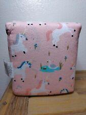 Pillowfort Pink Unicorn & Swan Fairy Tale Flannel Sheet Set Queen Size NEW Girls