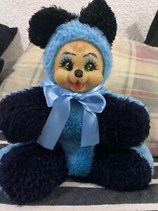 Vintage Rubber Face Plush Bear