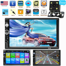 7 2Din HD Touch Screen Android IOS Car Stereo MP5 Player FM Radio USB TF Camera