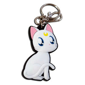"Sailor Moon S Artemis Guardian Cat PVC Rubber Keychain 2.5"" Official Licensed"