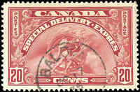 Canada Used VF Scott #E6 20c 1935 Special Delivery Stamp