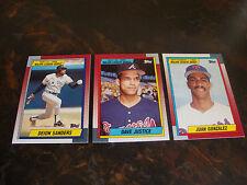 1990 Topps Major League Debut---Lot Of 3---Gonzalez, Justice, De.Sanders---NrMt