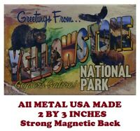 SM106- Yellowstone National Park Poster 2 by 3 Inch Metal Refrigerator Magnet