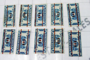 LOT 10x USA us revenue stamps RF27 Playing Cards 1 One Pack US B&B B B stamped