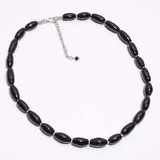 "925 Sterling Solid Silver 17.75"" Plus 2.25"" Ext.Necklace Black Onyx  (SPN-400)"