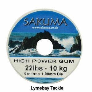 1 x Sakuma High Power Gum, 10lb & 22lb Available, Clear or Red, Power Gum