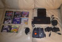 VINTAGE TURBO GRAFX 16 SYSTEM WITH CD CONSOLE 3 CONTROLLERS 8 GAMES USED
