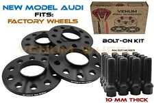 4 Pc 10mm Wheel Spacer Kit 5x112 66.6 Works With Audi A4 S4 Q5 S5 (2009-2018 )