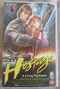 HOSTAGE, MEDUSA BIG BOX EX RENTAL VHS PAL, KERRY MACK, MEDUSA embossed box.