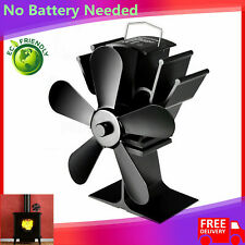 Thermal Power Fireplace Fan Heat Powered Wood Stove Fan Five-leaf Fans TA