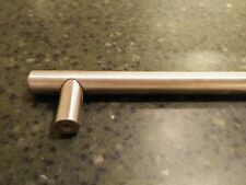 "Hafele Cabinet Hardware - 21"" Length European Bar Pull in Stainless Steel Matte"