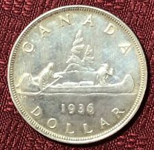 1936 ~ CANADA ~ .800 SILVER DOLLAR ~ Excellent Collection Coin ~ AU50+