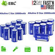 Lot EBL C LR14 / D Size LR20 L20 Alkaline Non-Rechargeable Battery High Capacity