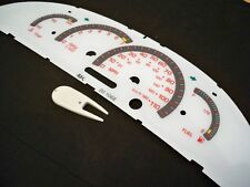 2000 2001 2002 Pontiac Sunfire White Face Glow Through Gauges With Red Accent
