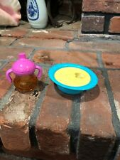 2009 Baby Alive All Gone Replacement Banana Bowl  Sippy Cup Juice Bottle