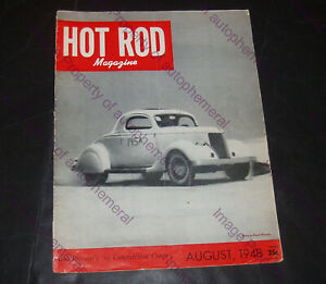 HOT ROD Magazine AUGUST 1948 Volume 1 #8 ORIG. HRM Racing Car CUSTOM Car SPEED