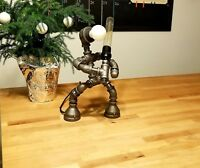 Handmade Industrial Pipe Robot Desk Table Lamp Retro Sword Light