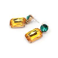 Fashion Geometric Crystal Earrings Luxury Women's Dangle Earrings Gifts Jewelry