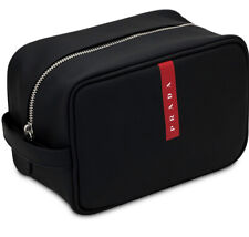 NEW Prada Luna Rossa Carbon Limited Edition Black Travel Pouch Toiletry Bag