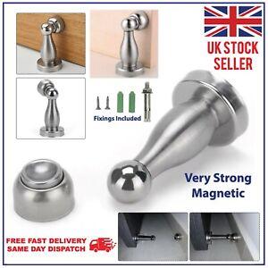 Magnetic Door Stop Strong Metal Stainless Steel Door Stopper Wall Mounted Stops