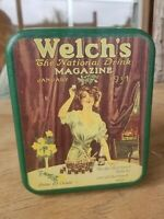 """Welch's Tin Box Can Vintage Style Collectibles 6"""" X 5"""" X 4"""""""