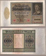 BANCONOTA GERMANIA BANKNOTE GERMANY 10.000 MARCHI 1922 INIZI DEL PERIODO NAZISTA