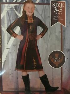 Au Seller Disney Frozen 2 Anna Child Costume 3-5 Yrs Brand New In Cello FREEPOST