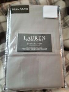 NEW! Ralph Lauren Dunham Sateen 2 Standard Pillowcases DOVE GRAY