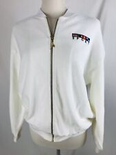 NWT Vintage 90s Catalina Sport White Beach Terrycloth Jacket Zip Up Womens Med