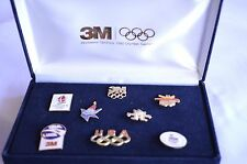 1992 Olympics Pin Set Albertville and Barcelona 3M Sponsor Set New in Box (Nib)