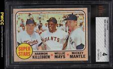 1968 Topps Mickey Mantle Willie Mays Killebrew SUPER STARS #490 BVG 4 (PWCC)