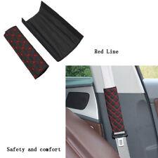 2PCS Car Safety Seat Belt Shoulder Cushion Harness Pads Cover Factory Red Line