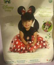 Disney Baby Minnie Mouse Halloween Costume & Headband Size 6-12 Months