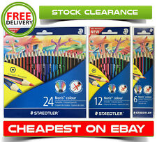 STAEDTLER NEW Traditional Hexagonal Noris 24/36 Coloured Pencils Set - Brand New