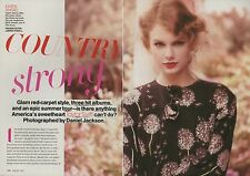 Taylor Swift 9pg + cover TEEN VOGUE magazine feature, clippings