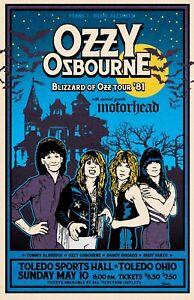 Ozzy Osbourne 1981 Tour Poster