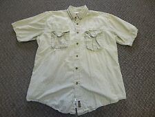 Woolrich Fish Fishing Hunt Hunting Shirt Mesh Vent Men's Large L Button Down