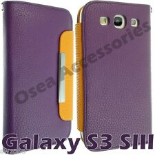 Samsung Galaxy S3 SIII I9300 Leather Case Cover Flip Pouch Back Book Wallet S111